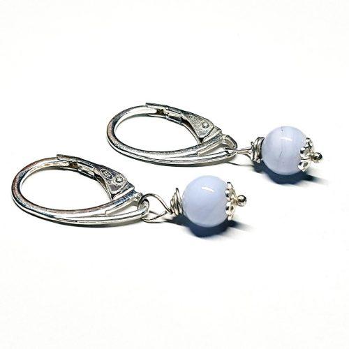 Orecchini in Agata Blu Lace monachella