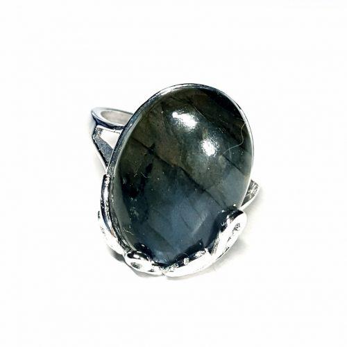 Anello con Labradorite Blu/Grigio su argento