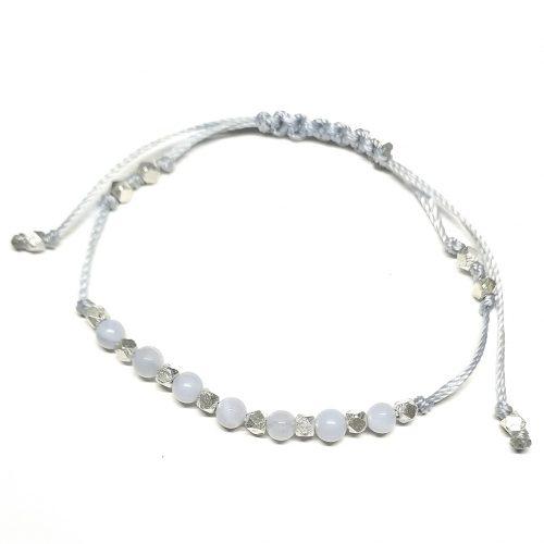 Bracciale linea Fashion&Cool® in Agata Blu Lace N. 584
